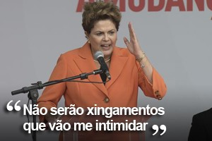Dilma comenta coro da torcida  na abertura da Copa (Marcelo Camargo/Agência Brasil)