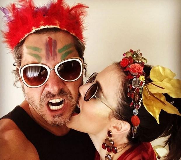Alexandre Nero com a mulher, Karen Brusttolin (Foto: Reprodução/Instagram)