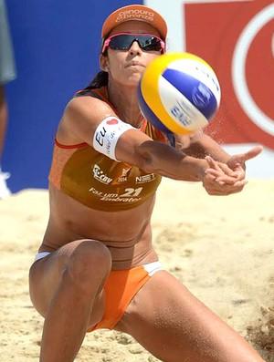 Talita vôlei de praia competição Rainha jogo (Foto: Mauricio Kaye)