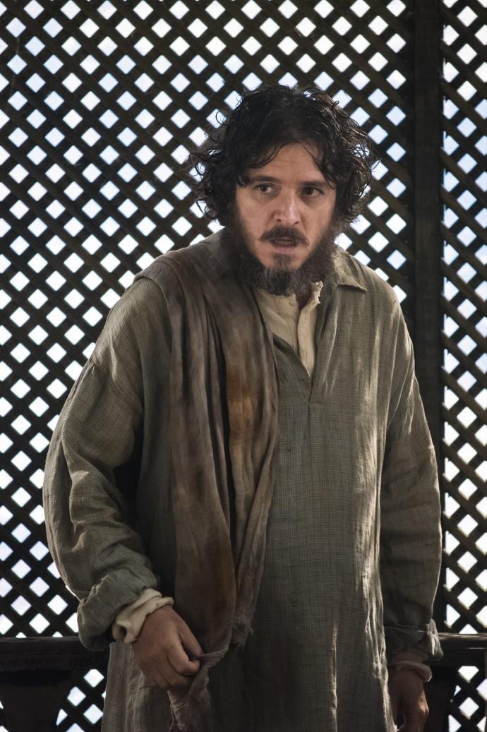Guilherme Piva aparece, pela primeira vez, como Licurgo, seu personagem em 'Novo Mundo', a próxima novela das 6 (Foto: César Alves/ TV Globo)
