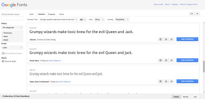 Google Fonts tem opções gratuitas e variadas de fontes (Foto: Reprodução/Filipe Garrett)