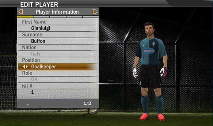Buffon era o melhor goleiro de Fifa 07 (Foto: Reprodução/Murilo Molina)