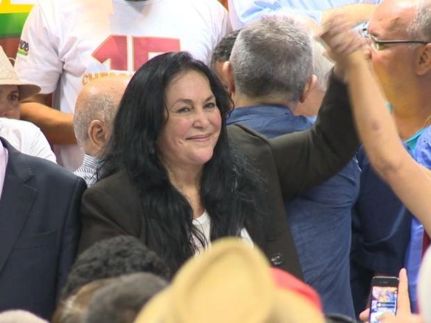 Rose de Freitas disputa o Senado nas Eleições 2014, pelo PMDB (Foto: Reprodução/TV Gazeta)