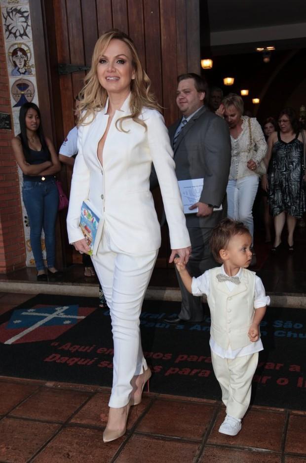Eliana com o filho (Foto: Leo Franco / AgNews)