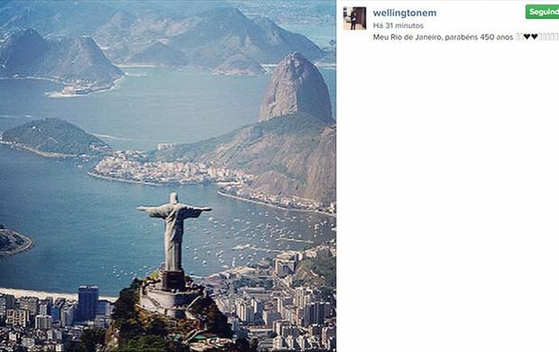 Wellington Nem homenagem ao Rio no Instagram