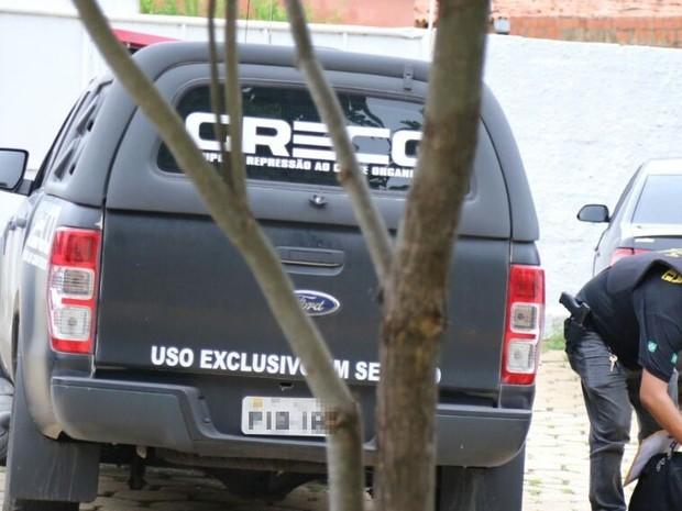 Quatro são presos suspeitos de fraudar concurso da Sejus (Foto: Catarina Costa/G1)
