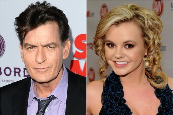 Charlie Sheen levou um pé na bunda da atriz pornô e sua namorada Bree Olson via mensagem de texto (Foto: Getty Images)