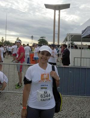 Carolina Alves do Nascimento - Corrida Eu Atleta 10k Rio (Foto: Arquivo Pessoal)