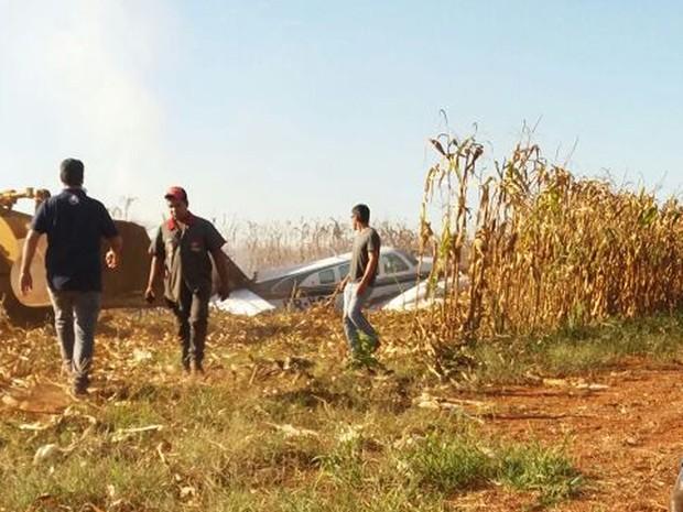 [Brasil] Avião com 5 pessoas faz pouso em MT e pega fogo após bater em cerca Xingu_aviao