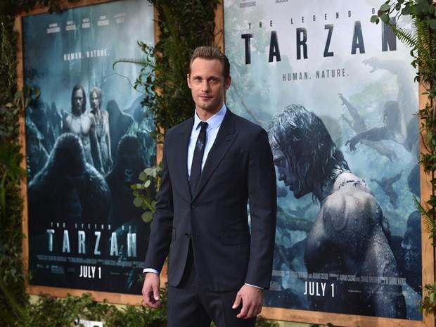 Alexander Skarsgard em première em Los Angeles, nos Estados Unidos (Foto: Alberto E. Rodriguez/ Getty Images/ AFP)