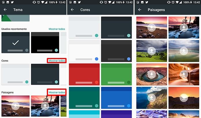 GBoard traz temas com cores sólidas e paisagens gratuitamente (Foto: Reprodução/Elson de Souza)