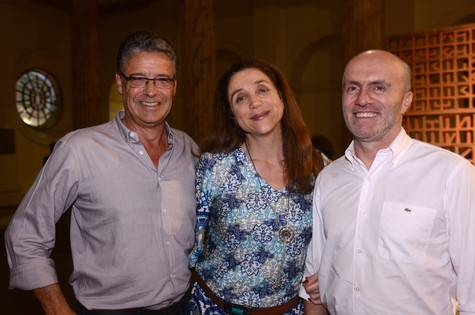 Paulo Henrique Cardoso, Marisa Orth e Gringo Cardia (Foto: Paulo Jabur)