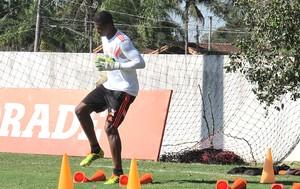 Felipe no treino do Flamengo (Foto: Hector Werlang)