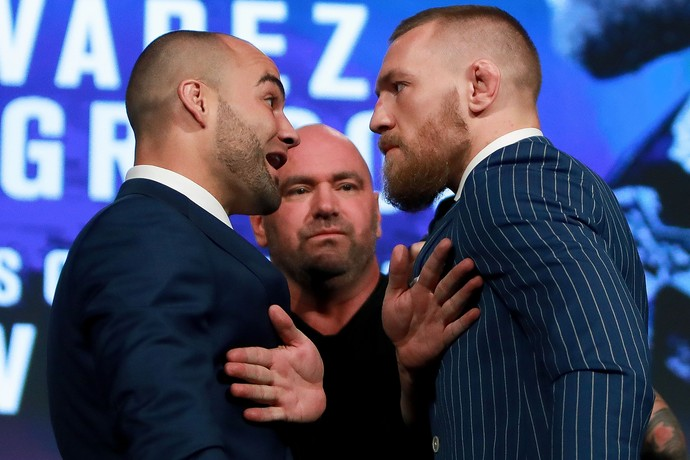 Conor McGregor Eddie Alvarez coletiva UFC 205 Nova York (Foto: Getty Images)