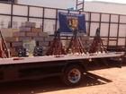 Motorista de caminhão é preso com 7 toneladas de produtos da Bolívia