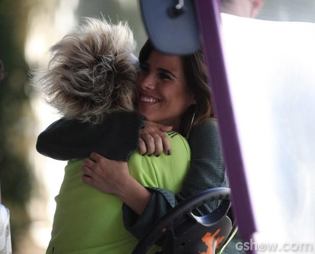 Ana Maria se encontra com Wanessa nos bastidores (Foto: Pedro Curi)