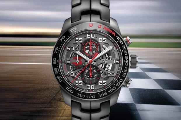 Relógio Tag Heuer em homenagem a Ayrton Senna (Foto: Divulgação)