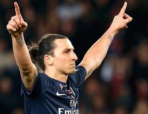Ibrahimovic gol jogo PSG Nice (Foto: Reuters)