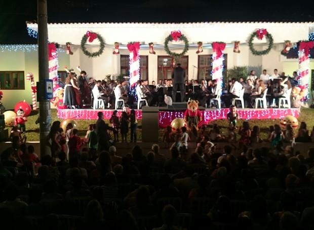 Vozes de Natal 2015 em Bauru - TV TEM (Foto: Renata Marconi)