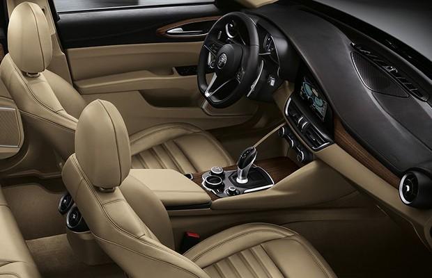 Interior da Alfa Romeo Giulia (Foto: Divulgação)