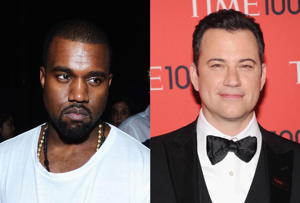 O rapper soltou o verbo em cima do apresentador, quando Kimmel fez uma paródia da entrevista de Kanye na rádio BBC, em que este diz ser o maior rock star do planeta. O esquete foi interpretado por crianças e causou a fúria do marido de Kim Kardashian, que escreveu diversos tweets em caixa alta pedindo para que o comediante se desculpasse publicamente.  (Foto: Getty Images)