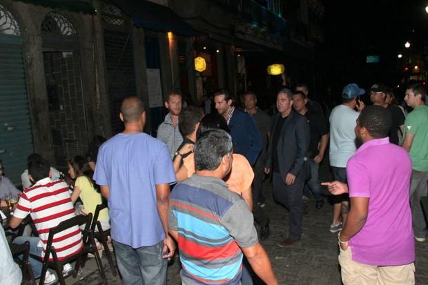 Elenco de 'Se beber Não Case' na Lapa, Centro do Rio (Foto: Delson Silva/Ag News)