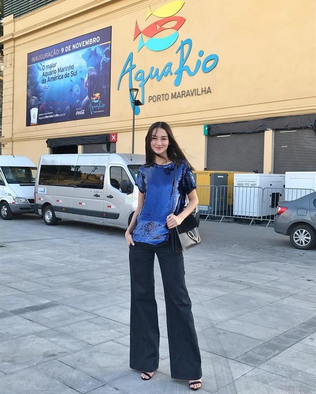 A modelo Carol Tenório participou de evento de moda no Rio (Foto: Reprodução do Instagram)