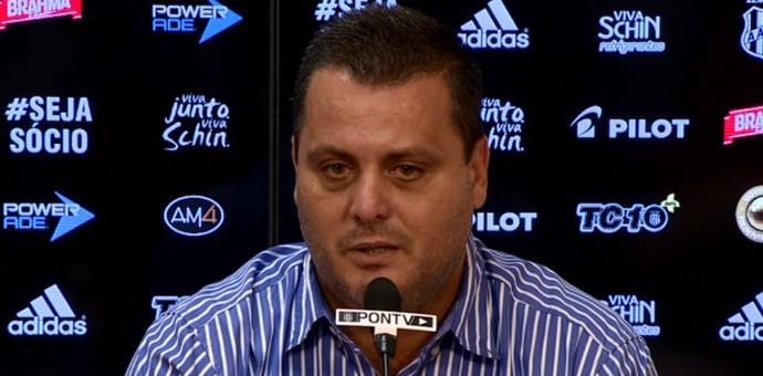 Gustavo Bueno gerente Ponte Preta (Foto: Vaner Santos / EPTV)