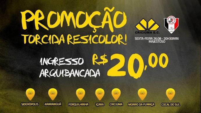 Criciúma promoção ingressos (Foto: Reprodução)