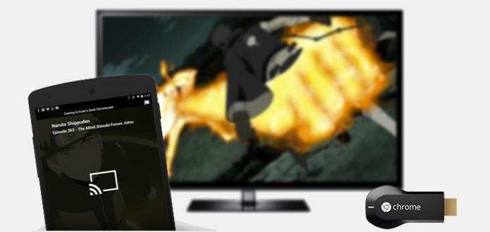 Serviço funciona em TVs conectadas ao Chromecast (Foto: Reprodução/Crunchyroll)