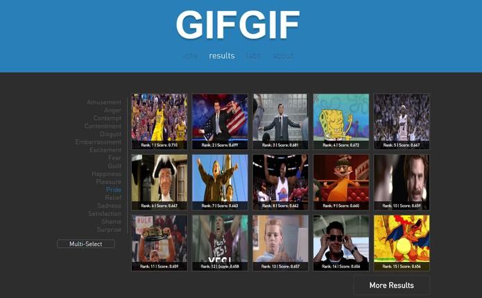 Gif Gif é um site focado em GIFs de emoções (Foto: Reprodução/Barbara Mannara)