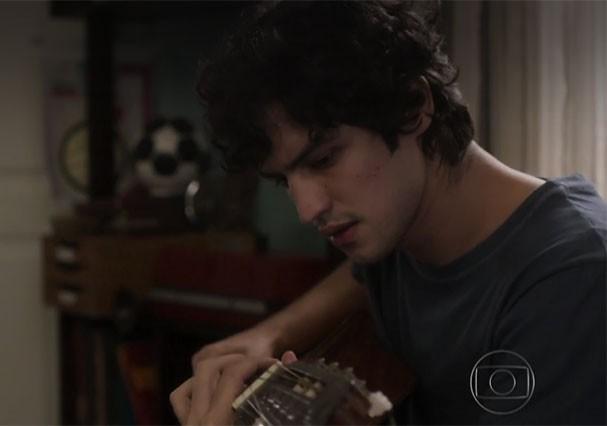 Gabriel Leone como Gustavo (Foto: Reprodução/TV Globo)