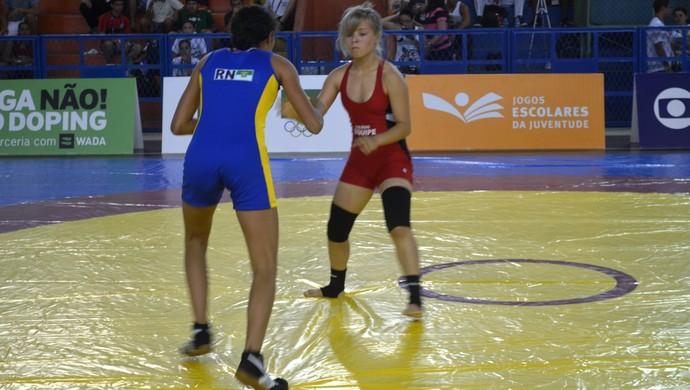 Choro e 4º lugar na luta olímpica marcam estreia do AP em competição (Foto: Jonhwene Silva/GE-AP)