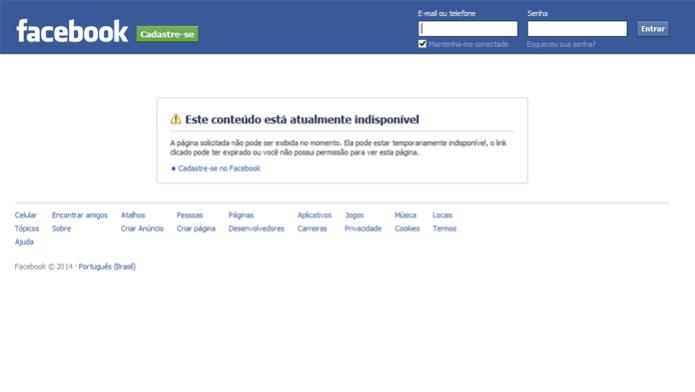 Facebook bloqueia acesso de Internautas que não são usuários (foto: reprodução/João Kurtz) (Foto: Facebook bloqueia acesso de Internautas que não são usuários (foto: reprodução/João Kurtz))