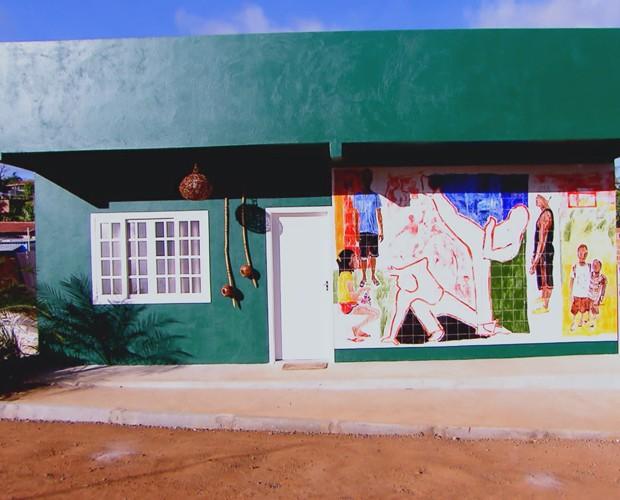 Centro Cultural Berimbau Arte, em Camaçari, na Bahia, depois da reforma (Foto: TV Globo)
