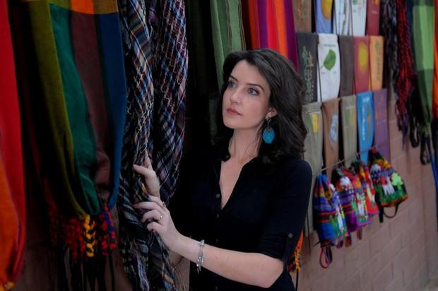 Larissa Maciel em viagem ao Chile (Foto: Munir Chatack/Record)
