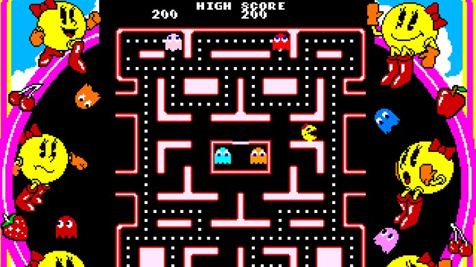 Ms Pac-Man levou o conceito de Pac-Man adiante, mas sem autorização da Namco (Foto: MobyGames)