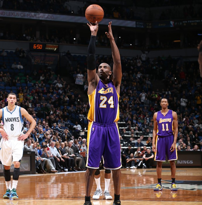 Kobe Bryant, cesta, Lakers (Foto: Getty Images)
