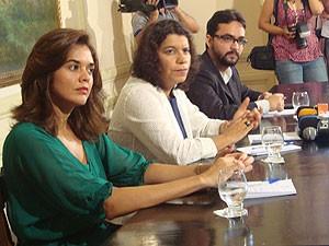 Novos secretários do Governo da Paraíba em coletiva (Foto: Jhonathan Oliveira/G1)