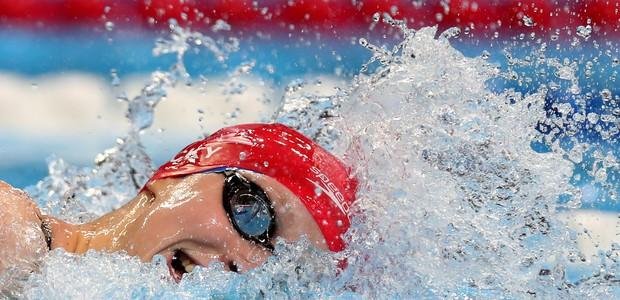 Katie Ledecky em ação na piscina (Foto: Getty Images)
