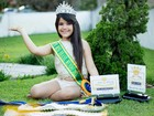 Mini Miss Brasil deixa hospital e sonha com concurso mundial