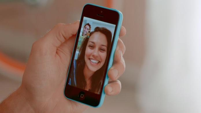 FaceTime em alta resolução na tela do iPhone 5C (Foto: Divulgação)