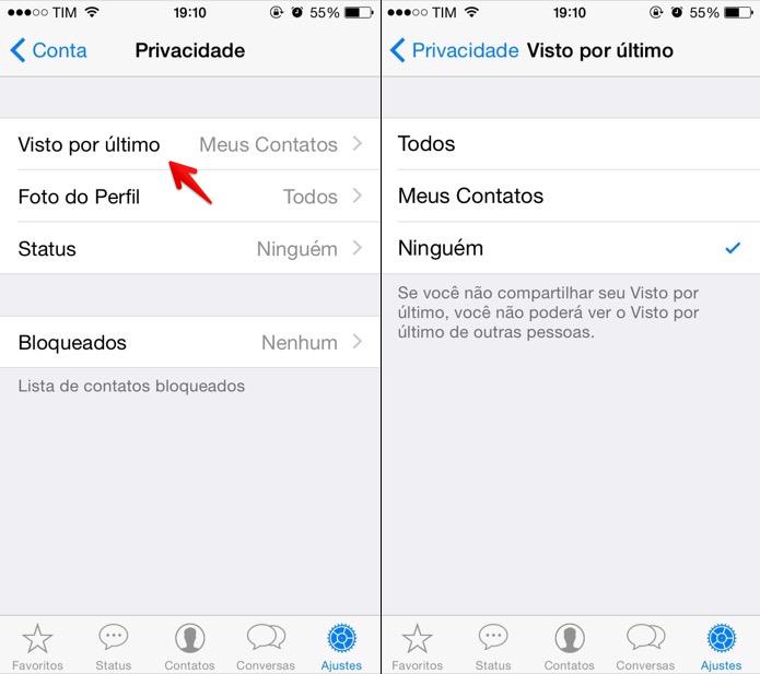 Desativando recurso no iOS (Foto: Reprodução/Helito Bijora)