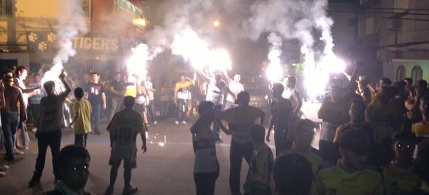 Protesto Criciúma (Foto: João Lucas Cardoso)