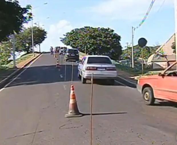 Interdição será transferida para a outra pista da Murchi Homsi. (Foto: Divulgação/ TV TEM)
