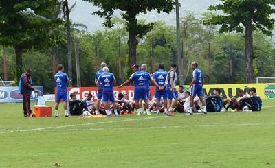 Conversa treino Flamengo (Foto: Fred Gomes)