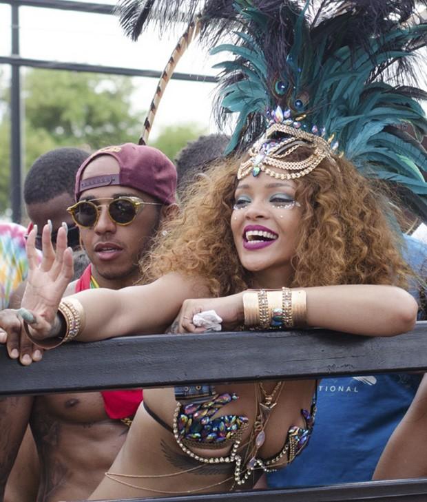 Lewis Hamilton e Rihanna (Foto: The Grosby Group)