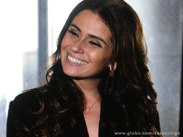 Giovanna finge que não sabe quem é Rosângela (Foto: Salve Jorge/TV Globo)