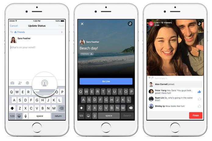 Funcionalidade de transmissão ao vivo no Facebook está agora disponível para todos (Foto: Divulgação/Facebook)