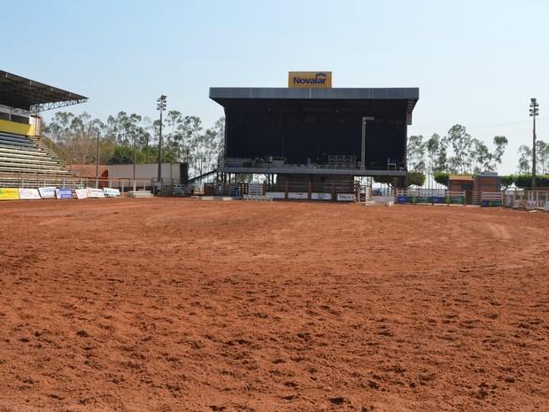 Parque passou por reformas para Expoac (Foto: Magda Oliveira/G1)